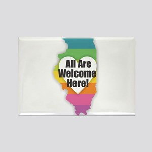 Illinois - All Are Welcome Here Magnets