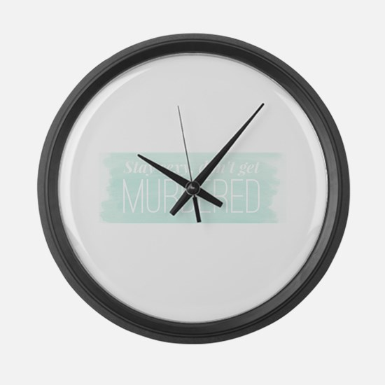 Cute Podcast Large Wall Clock