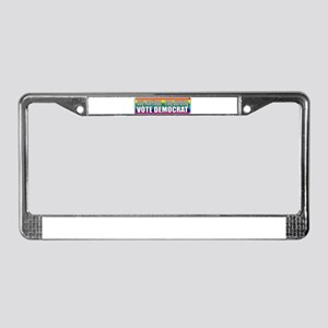 Gay Marriage Flag Burning License Plate Frame