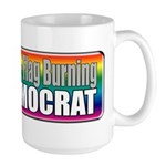 Gay Marriage Flag Burning Large Mug