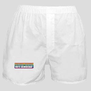 Gay Marriage Flag Burning Boxer Shorts