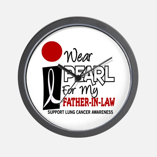I Wear Pearl For My Father-In-Law 9 Wall Clock
