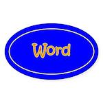 Word Oval Sticker