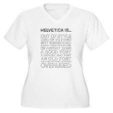Helvetica Is... (Black) Women's Plus Size V-Neck T