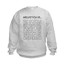 Helvetica Is... (Black) Kids Sweatshirt