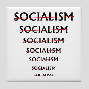 No SOCIALISM -- Tile Coaster