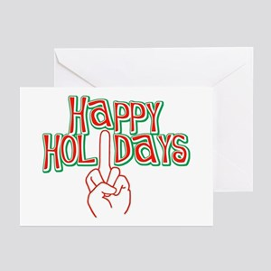 happy holidays middle finger Christmas Cards