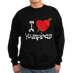 I Love Vampires Sweatshirt (dark)
