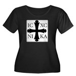 ICXC NIKA Women's Plus Size Scoop Neck Dark Tee