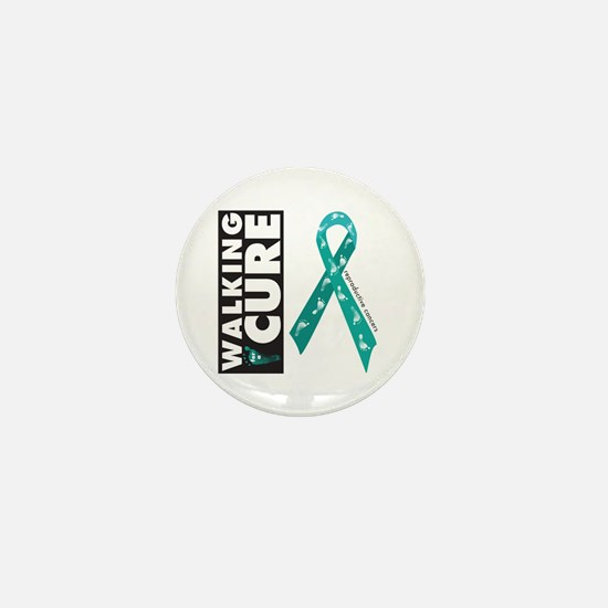 Teal Ribbon for Reproductive Mini Button