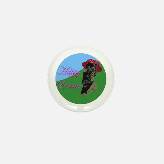 Happy Easter Island Mini Button