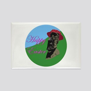Happy Easter Island Rectangle Magnet