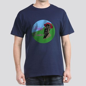 Happy Easter Island Dark T-Shirt
