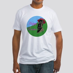 Happy Easter Island Fitted T-Shirt