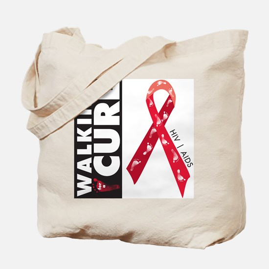 Red Ribbon for AIDS HIV Tote Bag