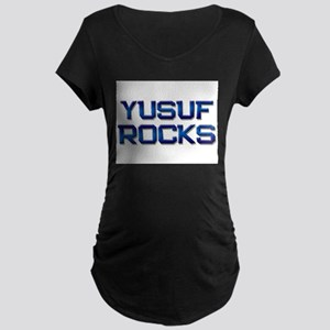 yusuf rocks Maternity Dark T-Shirt