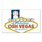 Osh Vegas Rectangle Sticker 10 pk)