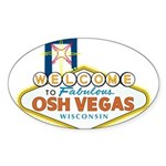 Osh Vegas Oval Sticker (10 pk)