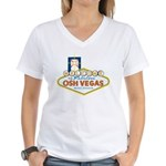 Osh Vegas Women's V-Neck T-Shirt