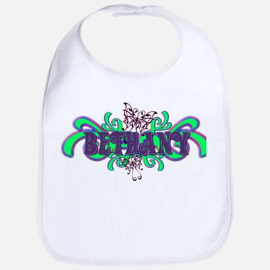 Bethany's Butterfly Name Bib