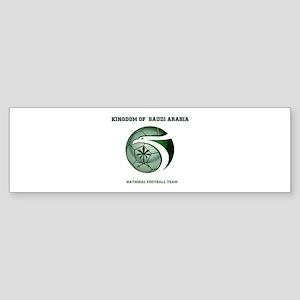 KSA KINGDOM OF SAUDI ARABIA FOOTBAL Bumper Sticker