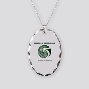 KSA KINGDOM OF SAUDI ARABIA FO Necklace Oval Charm