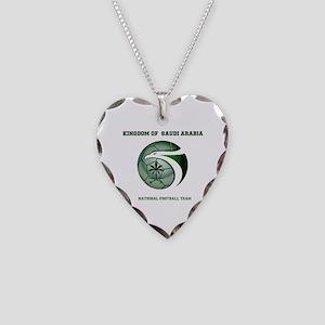 KSA KINGDOM OF SAUDI ARABIA F Necklace Heart Charm