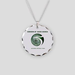 KSA KINGDOM OF SAUDI ARABIA Necklace Circle Charm