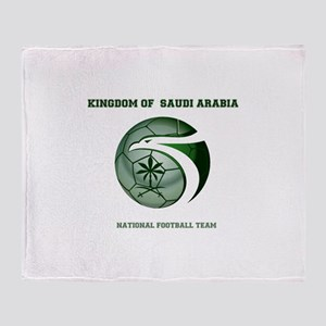 KSA KINGDOM OF SAUDI ARABIA FOOTBALL Throw Blanket
