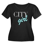 City Girl Women's Plus Size Scoop Neck Dark T-Shir