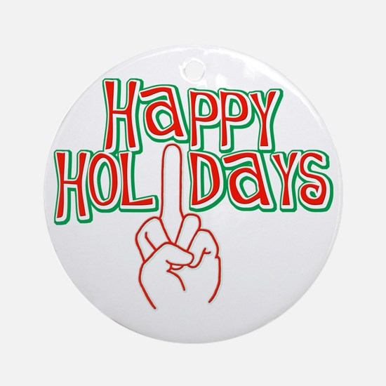 happy holidays middle finger Christmas ornament