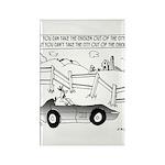 Chicken Cartoon 9484 Rectangle Magnet (10 pack)