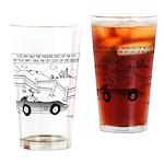 Chicken Cartoon 9484 Drinking Glass