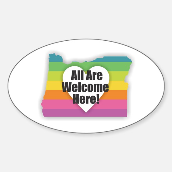 Oregon - All Are Welcome Here Decal
