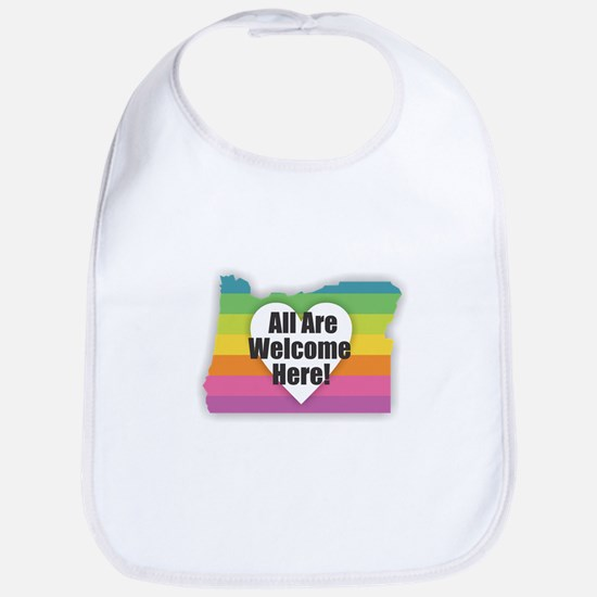 Oregon - All Are Welcome Here Baby Bib