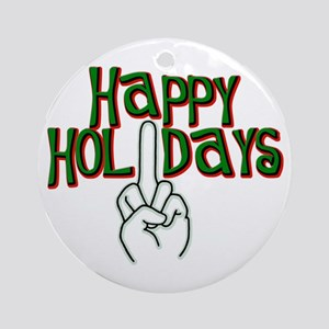 happy holidays middle finger Kwanzaa ornament