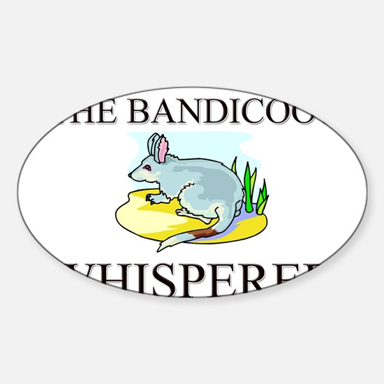 The Bandicoot Whisperer Oval Decal