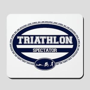 Triathlon Oval - Men's Spectator Mousepad