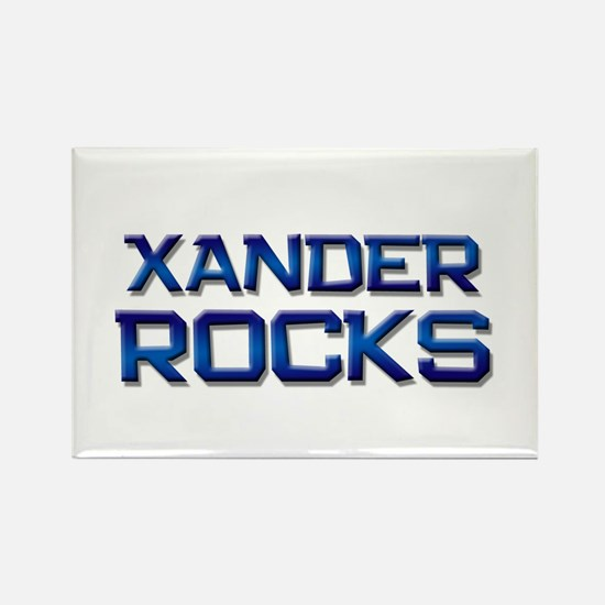 xander rocks Rectangle Magnet
