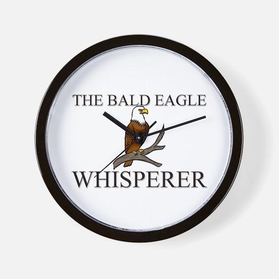 The Bald Eagle Whisperer Wall Clock