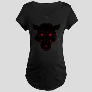 Razorback Logo Maternity Dark T-Shirt