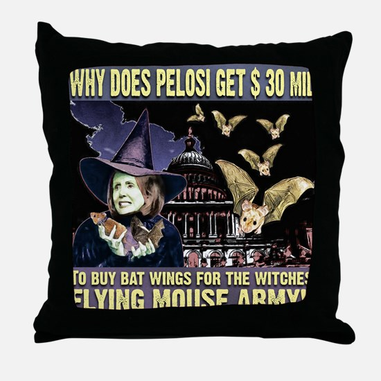 anti Nancy Pelosi Throw Pillow