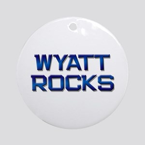 wyatt rocks Ornament (Round)