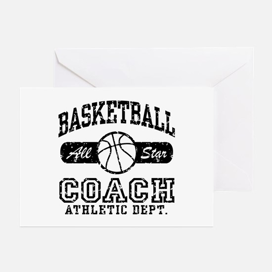 Basketball Coach Greeting Cards (Pk of 10)