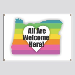Oregon - All Are Welcome Here Banner