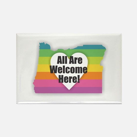 Oregon - All Are Welcome Here Magnets