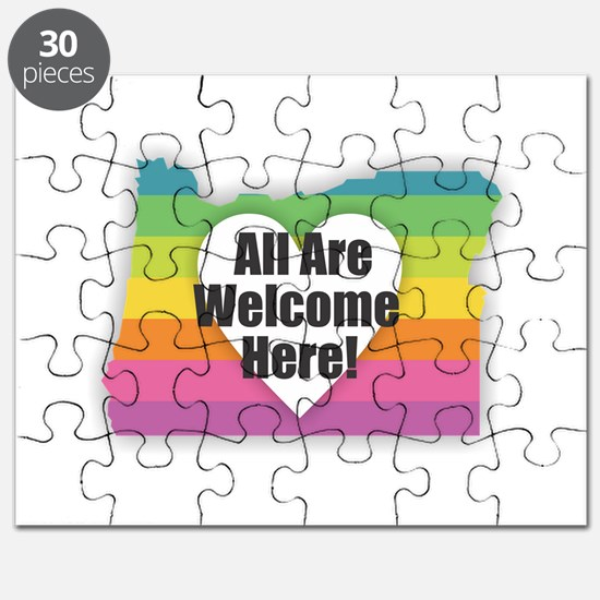 Oregon - All Are Welcome Here Puzzle