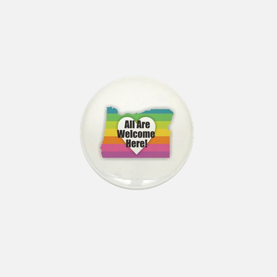 Oregon - All Are Welcome Here Mini Button