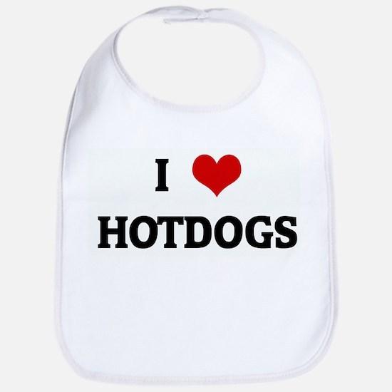 I Love HOTDOGS Bib