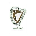 Irish Harp and Shamrock Rectangle Sticker 50 pk)